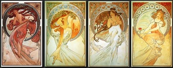 Quatre femmes féeriques