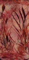 Roseaux rouges-Peinture