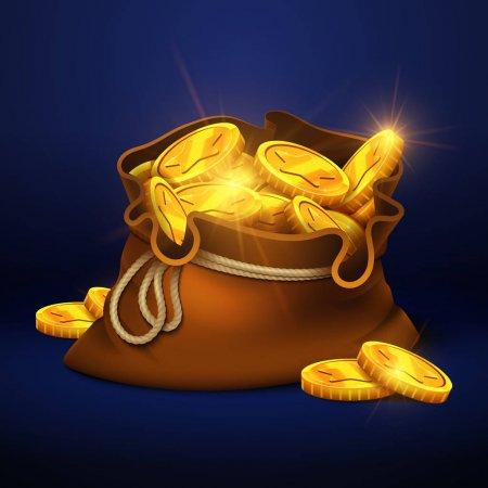 Sac avec pièces d'or