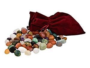 Sac et pierres précieuses