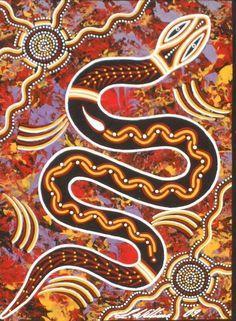 Serpent rouge-Peinture