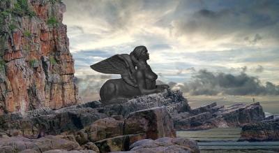 Sphinx à la porte de Thèbes
