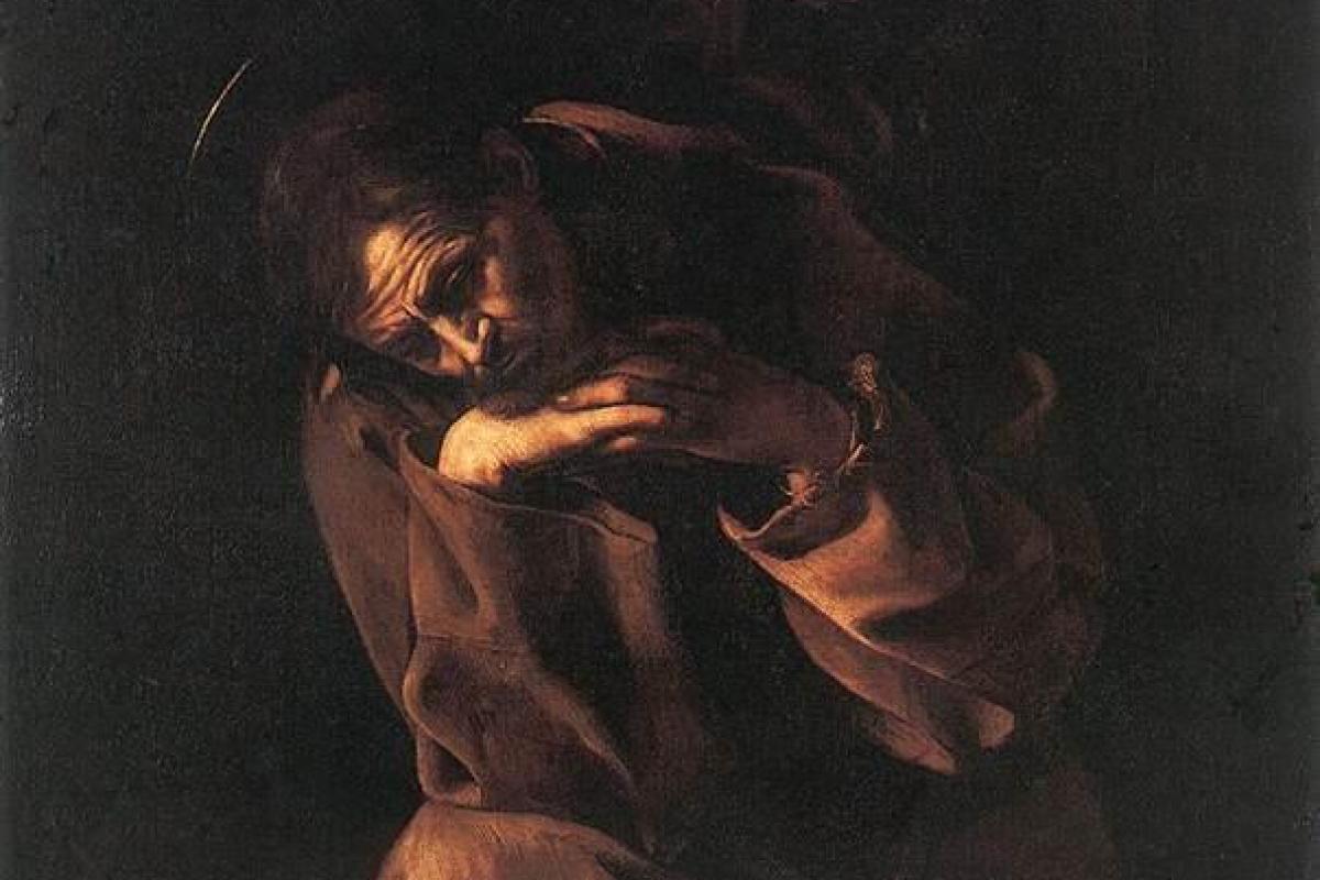 St-François en méditation-Caravaggio