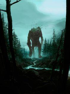 Troll dans forêt obscure