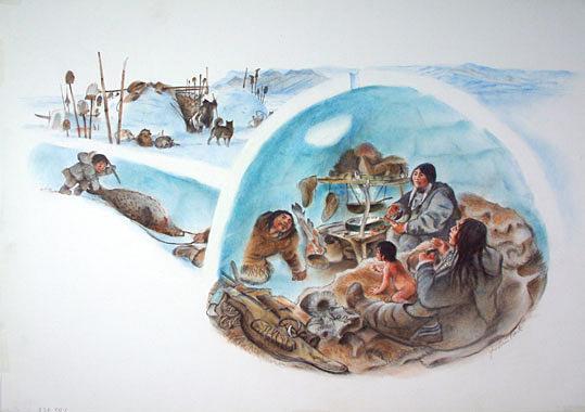 Vie dans igloo