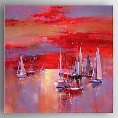 Voiliers rouges-Peinture